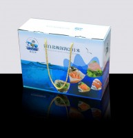 各种海鲜彩盒包装